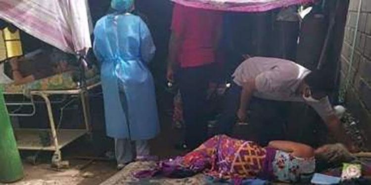 Inhumana atención de pacientes en carpas del Sur