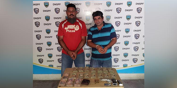 Luis Noel González y Mario Orlando Amaya Salgado serán presentados a la Fiscalía para que respondan por supuesto lavado de dinero.