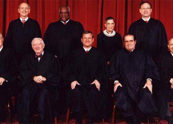 Magistrados de la Corte Suprema de EEUU.