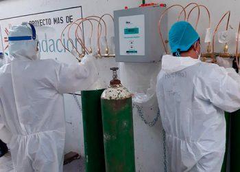 Se están haciendo pruebas de oxígeno para poder atender mejor a los pacientes de la sala COVID del Hospital General del Sur.