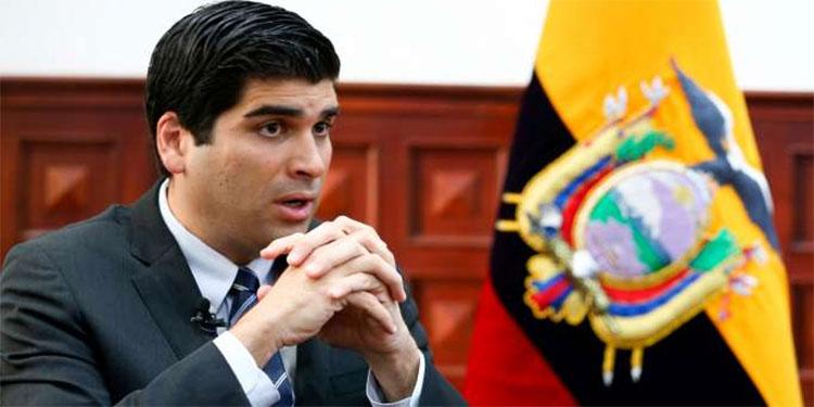 Vicepresidente de Ecuador renuncia al cargo a ocho meses de las elecciones