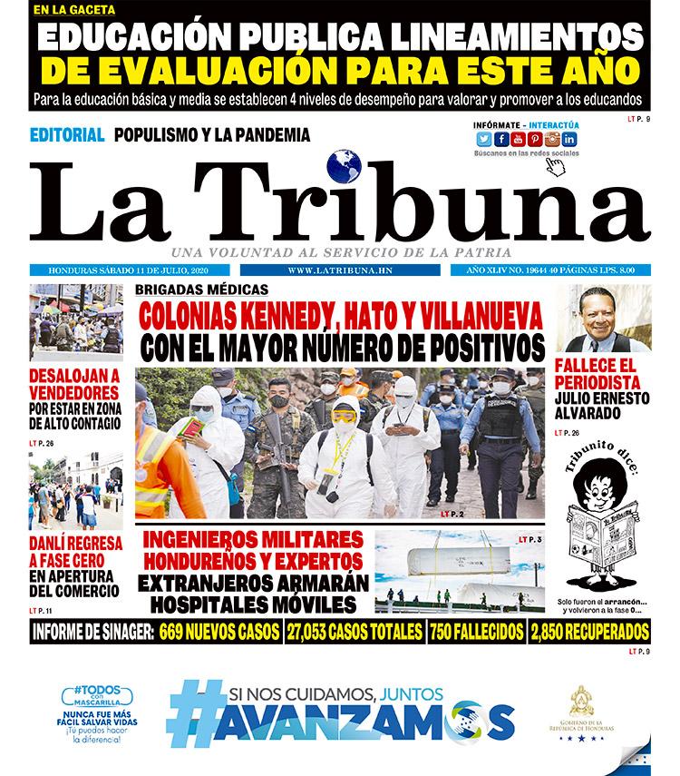 COLONIAS KENNEDY HATO Y VILLANUEVA CON EL MAYOR NÚMERO DE POSITIVOS