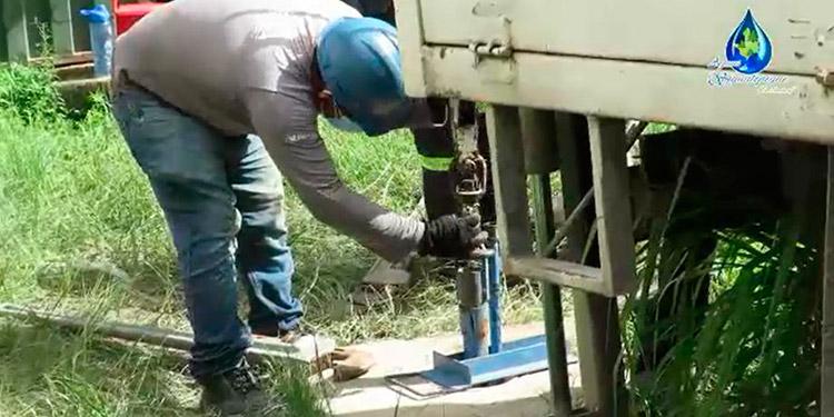 """El pozo """"San Miguel II"""" recibe mantenimiento completo y el equipo que se instalará vale 94 mil lempiras."""