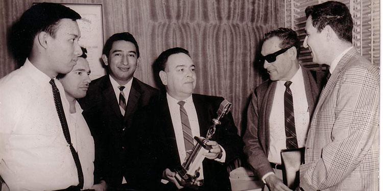 Rodrigo Wong Arévalo, Mariano Perdomo, César Quezada, Silvio Peña, Manuel Jaen y Jacobo Goldstein