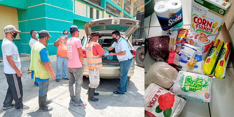 Personas de escasos recursos reciben alimentos en Olancho