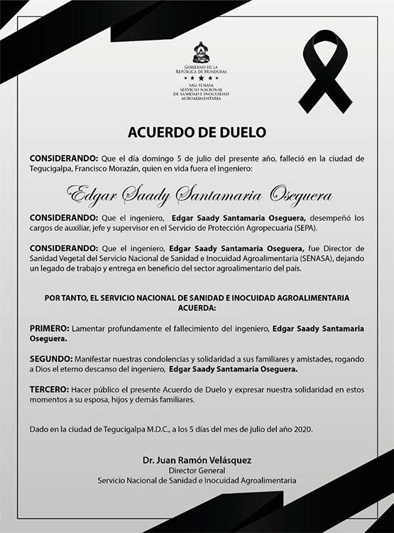 Muere exdirector de Senasa Edgar Santamaria a causa de <a href=