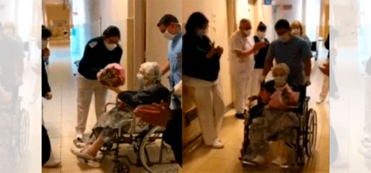Una anciana de 101 años supera entre aplausos el coronavirus (Video)