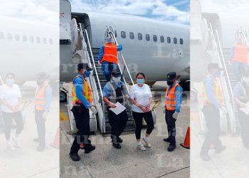 Interpol captura a hondureña retornada por el tráfico ilícito de drogas
