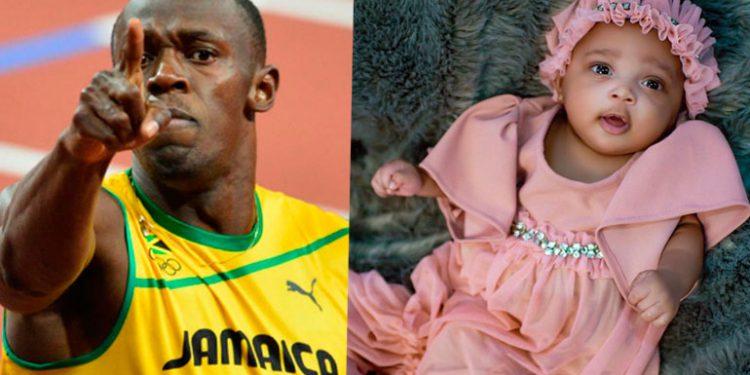 El extraño nombre que Usain Bolt le puso a su hija