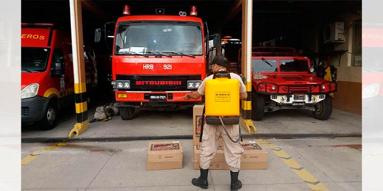 Doce bomberos dan positivos de COVID-19 en Choluteca