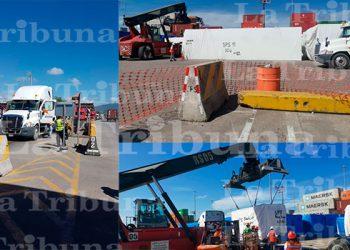 Salen los primeros 15 contenedores de la portuaria