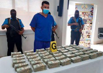 Decomisan cerca de medio millón de dólares a un hondureño en Nicaragua