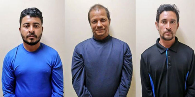 Samuel Velásquez Moncada, Hanno Hyde Moore y Heber Velásquez Moncada, acusados por tráfico de drogas agravado.
