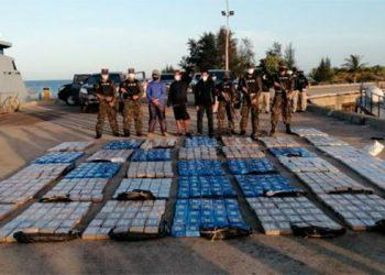 Más de 900 kilos de supuesta cocaína encontraron en embarcación de Brus Laguna