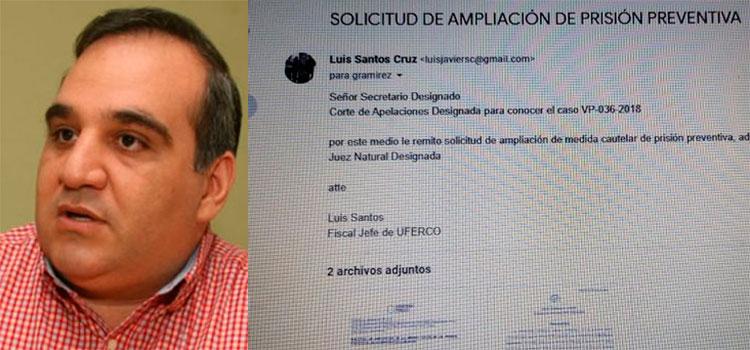 MP a la espera de solicitud de ampliación de prisión preventiva a Jacobo Regalado