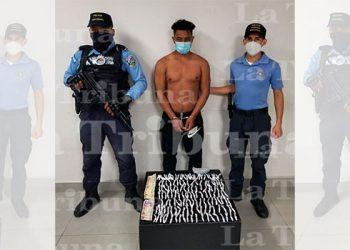 Arrestan a supuesto integrante de la MS-13 en posesión de droga en Choloma