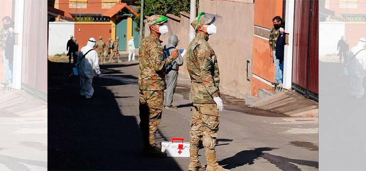 Más de mil militares de primera línea con positivo a la COVID-19 en Bolivia