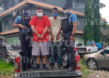 Capturan a dos miembros de la MS-13 por el delito de asesinato en El Progreso