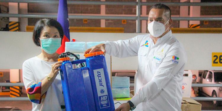 Taiwán dona equipo de protección y bioseguridad a MiAmbiente+