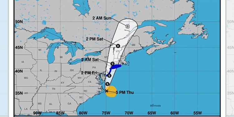 Tormenta tropical Fay avanza hacia Nueva Inglaterra