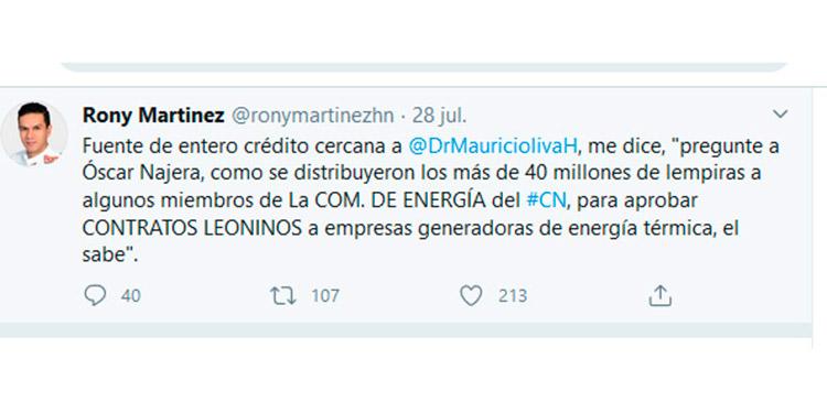 Diputado Rony Martínez: ¨Una fuente me dice que pregunte