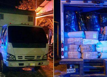 Decomisan cuantiosa carga de mercadería de contrabando