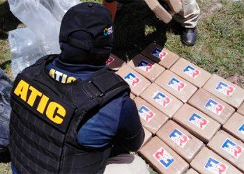 Destruyen 901 kilos de cocaína decomisados en Gracias a Dios