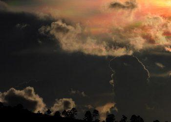 Los paisajes de la zona sur oriental de Honduras se vieron engalanados por este fenómeno óptico.