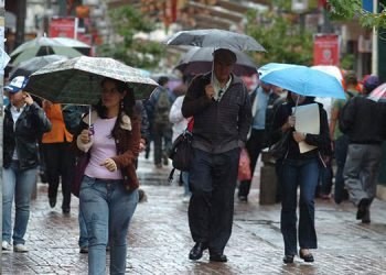 Las condiciones lluviosas estarán acompañadas de actividad eléctrica y nubosidad.