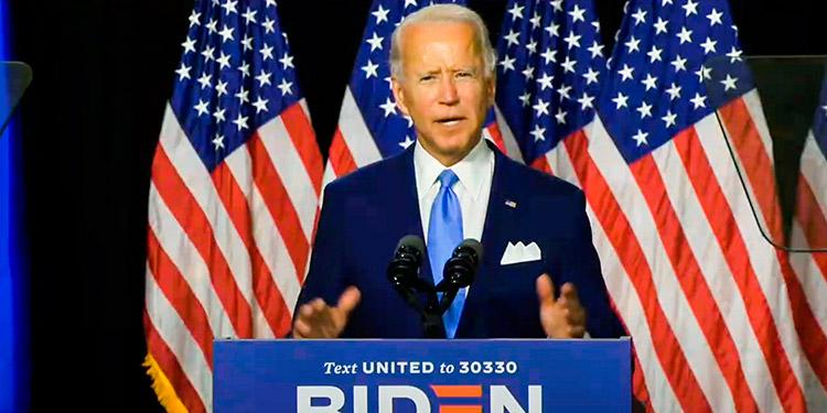 Biden se presenta como candidato de unidad frente a Donald Trump