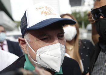 La Fiscalía de Panamá dictó la prohibición de salida del país y presentación periódica ante la autoridad al expresidente Ricardo Martinelli, imputado por presunto lavado de dinero vinculado al caso Odebrecht.  (LASSERFOTO EFE)