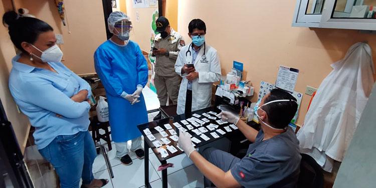 En el mercado San Juan se aplicaron 40 pruebas y nueve resultaron positivas para un 22.5 por ciento de casos positivos.