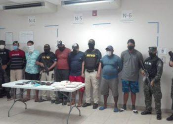 Los detenidos en aguas de La Mosquitia, Gracias a Dios, fueron puestos a la orden de autoridades judiciales en la capital hondureña
