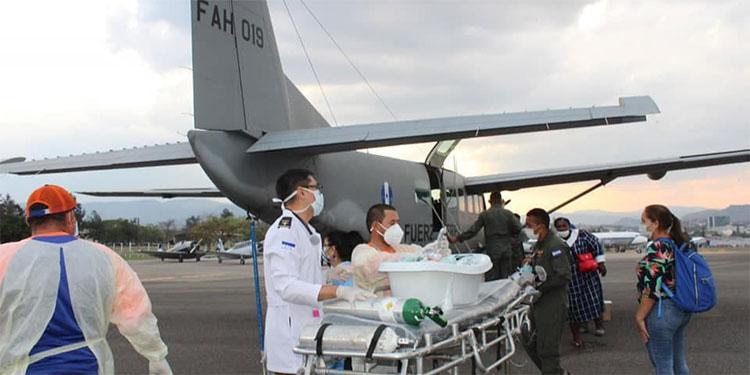 Más de 670 hondureños han sido evacuados en ambulancias aéreas