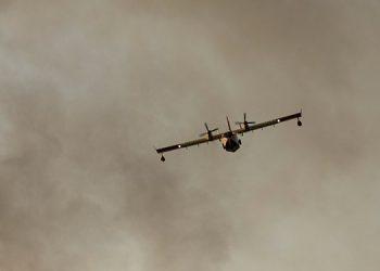 Un muerto y un herido grave al caer avión luso que combatía fuego fronterizo