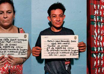 Cinco detenidos y droga decomisada deja allanamiento en Colón
