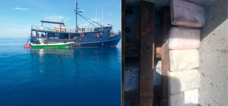 Seis detenidos, cocaina y embarcación asegurada deja operativo en La Mosquitia
