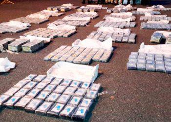 Incinerarán cargamento de cocaína incautado en La Mosquitia