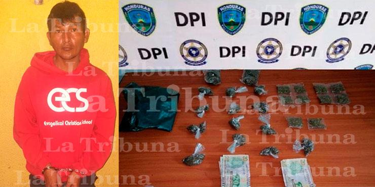 Arrestan a supuesto distribuidor de drogas en la capital