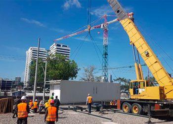 Comenzó la instalación del hospital móvil en Tegucigalpa