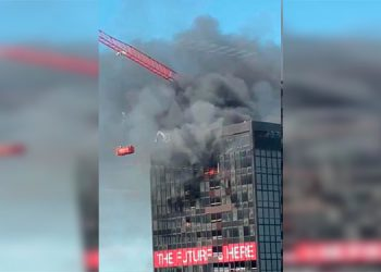 Se registra un incendio en el World Trade Center de Bruselas, Bélgica