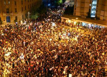 Miles protestan contra Netanyahu; marchas toman fuerza