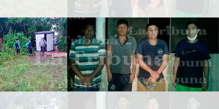 Recuperan camión con mercadería robada y cuatro detenidos en Cortés