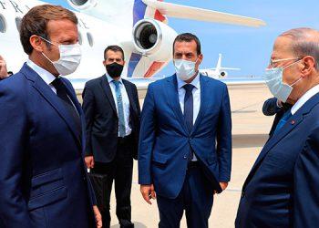 Macron promete ayuda al Líbano y visita el puerto de Beirut