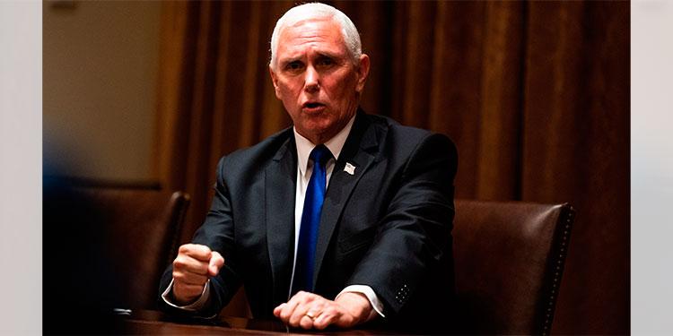 Pence dice que pandemia está a la baja en Florida durante mitin sobre aborto