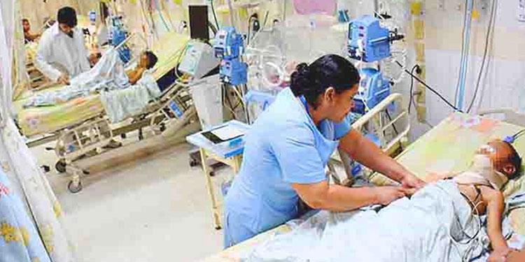 46 pacientes de COVID-19 están internos en el HEU