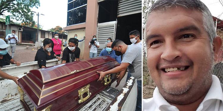 El cuerpo del comunicador Luis Alonso Almendares (foto inserta) ayer mismo fue entregado a sus parientes, para luego ser enterrado hoy en Comayagua.