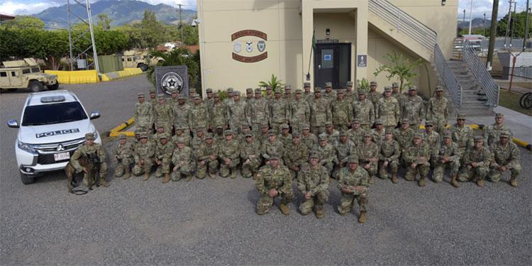 Compañía de Policía Militar de la Guardia Nacional de Puerto Rico llega a Soto Cano