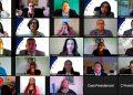 Los maestros homenajeados fueron convocados para conectarse a través de plataformas digitales.
