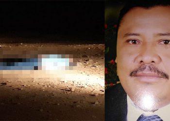 A la altura del kilómetro 4, de la carretera hacia San Pedro de Catacamas, fue hallado el cadáver del empresario José Manuel Linares (foto inserta).